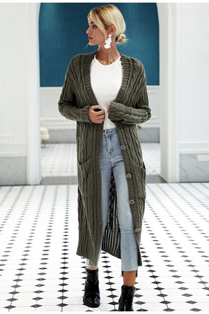 LAURA Knitted Long Cardigan