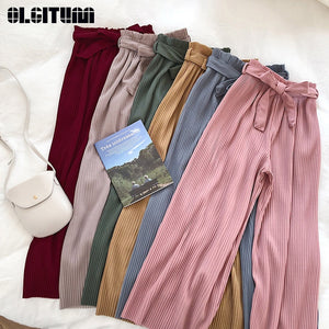 Femme Korean Soft Pleated Trousers