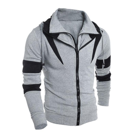 Men Retro Long Sleeve Hoodie Hooded Sweatshirt Tops Jacket Coat Outwear -  - Drako Store