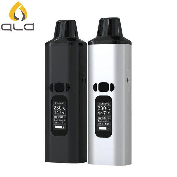 ALD AMAZE dry herb vaporizer kit smoke herbal electronic cigarette vaporizer portable vape pen with 0.96 inch big Oled display