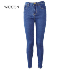 4be6b62c9ec89 Quick View · Slim Jeans For Women Skinny High Waist Jeans Woman Blue Denim  Pencil Pants Stretch Waist Women