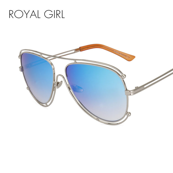 ROYAL GIRL New Fashion Women Sunglasses Brand Designer Metal Frame Sun Glasses Retro Gradient Glasses UV400 ss394
