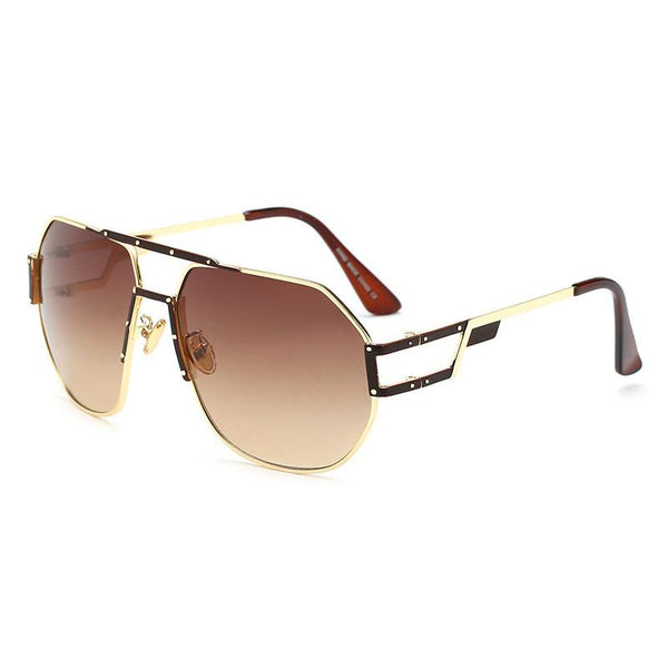 ROYAL GIRL Retro Men Sunglasses Metal Oversized Square Shape Women Sun Glasses ss157