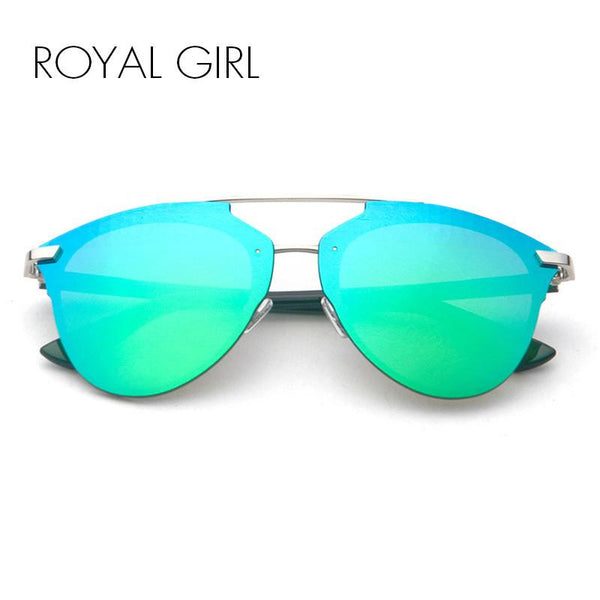 ROYAL GIRL Women Brand Designer Sunglasses 2017 new retro rimless cat eye glasses ss196