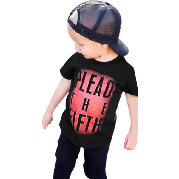 Kids boys clothes Toddler Baby Kids Boys Short Sleeve Letter T shirt Tops children Clothes Outfits Kids boys T-shirt Drop ship