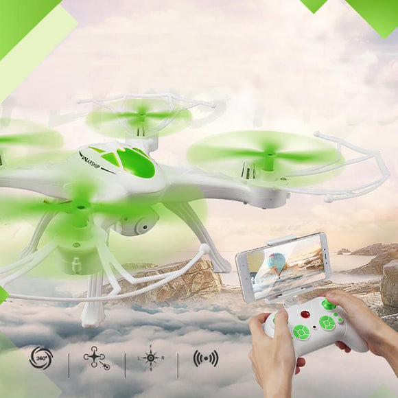 Mini Drone JJRC H29WH RC Quadcopter 2.4G 4CH 6-Axis Gyro With 0.4MP WIFI Camera Drone with camera RC toys for children -  - Drako Store