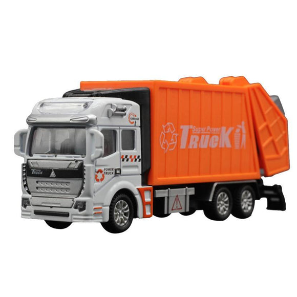 Children Model toys 1:32 Racing Bicycle Shop Truck Toy Car Carrier Vehicle Garbage Truck Educational toys -  - Drako Store