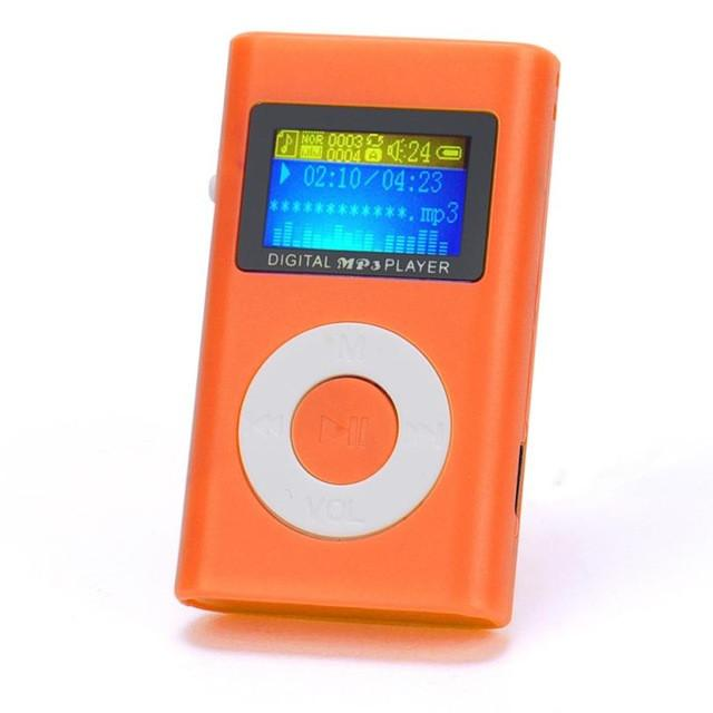 2017 Mini MP3 Player USB  LCD Screen Support 32GB Micro SD TF Card  MP3 Player For Children 3.5mm stereo Jack 5Color#25