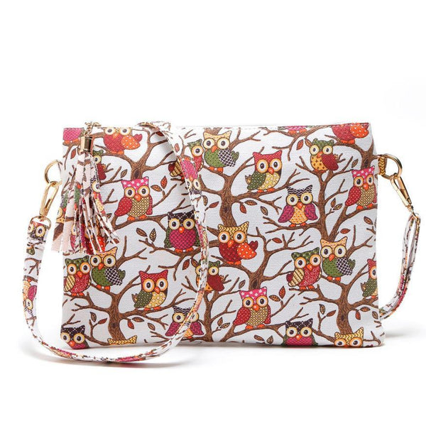 Women Shoulder Owl Bags fashion printing women messenger bags canvas bags Printing crossbody bags for women 2017 Postman Package
