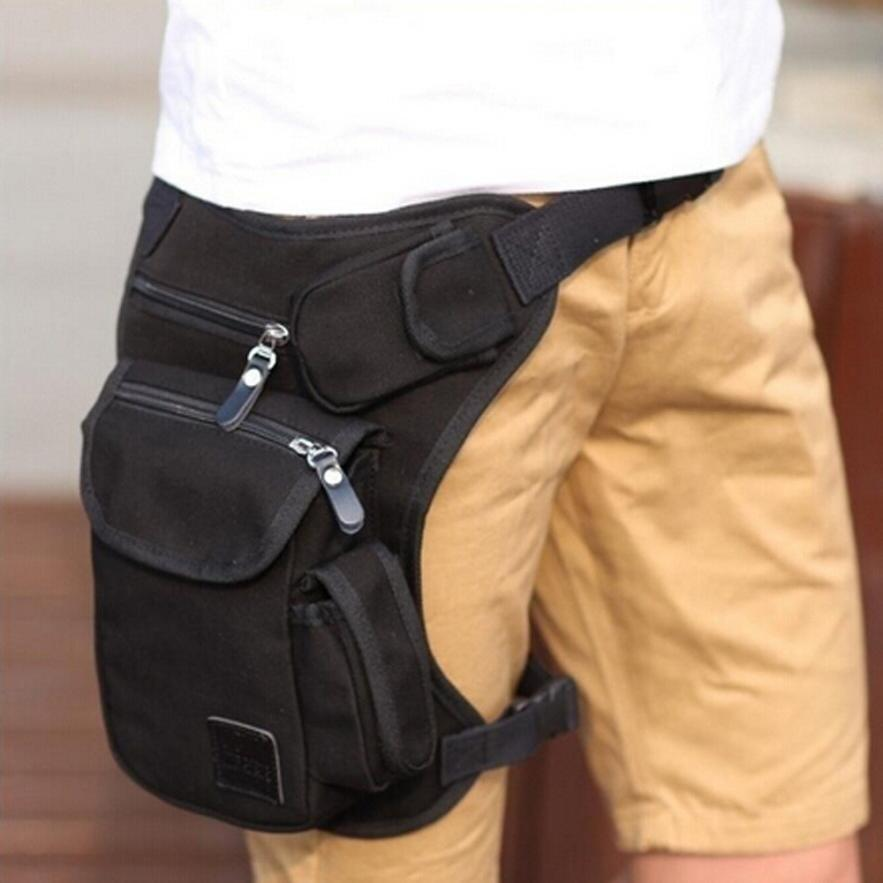 Xiniu Men leg waist bag thigh fanny pack multifonction Canvas Money Belt Casual Man Waist Bag sacoche cuisse pochete homem#LRSS