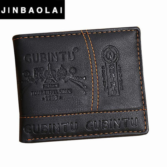 JINBAOLAI Brand Leather Wallet 2016 Men Wallet Men's Short Purse Men Bags Coin Wallets Clip Cowhide Mens Wallet #ZTYW -  - Drako Store