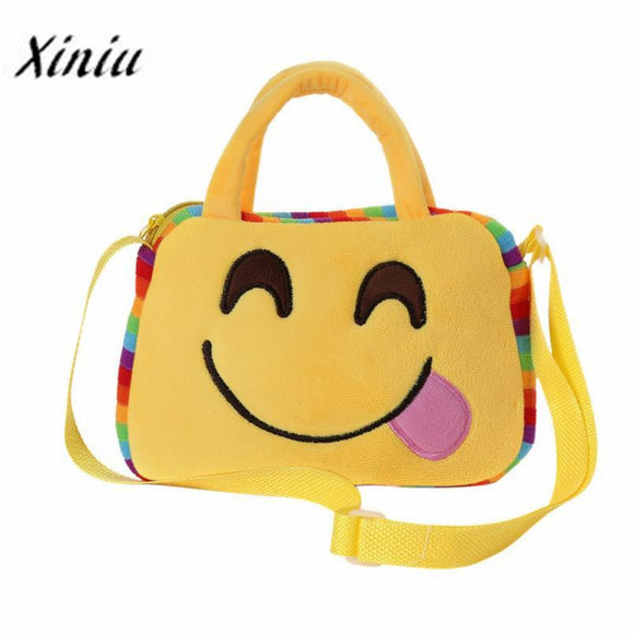 Xiniu Women Bags Cute Emoji Emoticon School Child Bag Satchel Handbag Cute Bag Children Kids Girls Shoulder Bag -  - Drako Store
