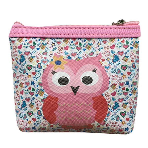 women's wallet with zipper Coin Purse animal Owl Wallet women carteira feminina monedero mujer #XTJ