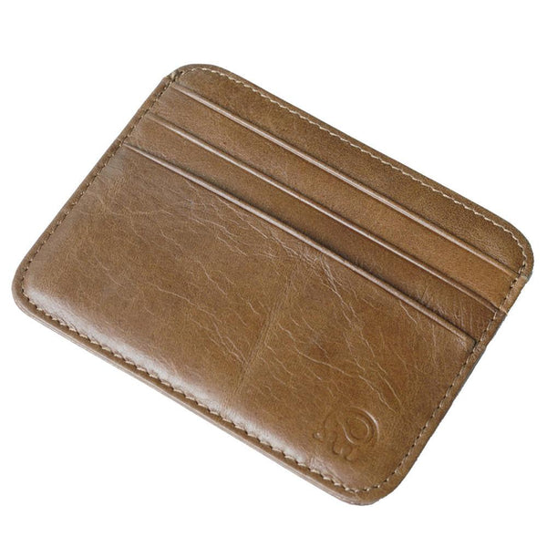 small zip wallet card holder Men Leather Clutch slim for plastic cards  Purse Drop shipping #7m