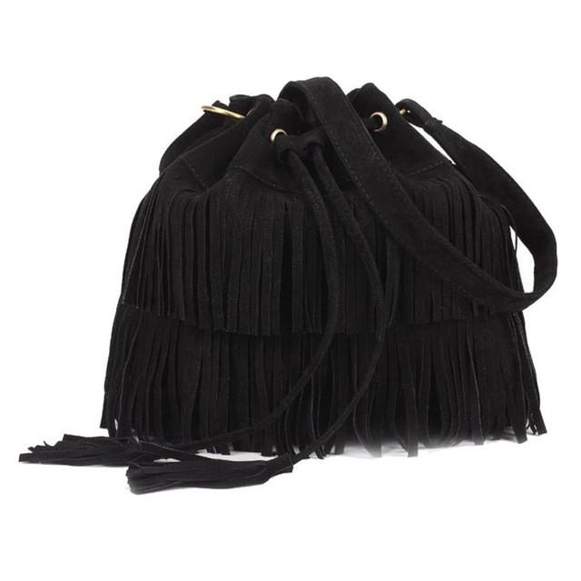 2016 Fashion Women Bag Casual Tassel Solid Bags Drawstring Shoulder Bags Women Messenger bolsa feminina para mujer