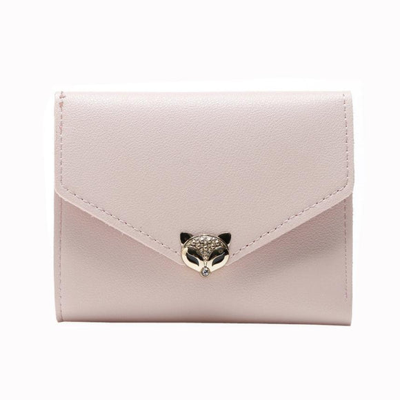 Xiniu women wallets luxury brand wallets designer purse Female cartoon wallet Fox Head Short Purses #6M -  - Drako Store