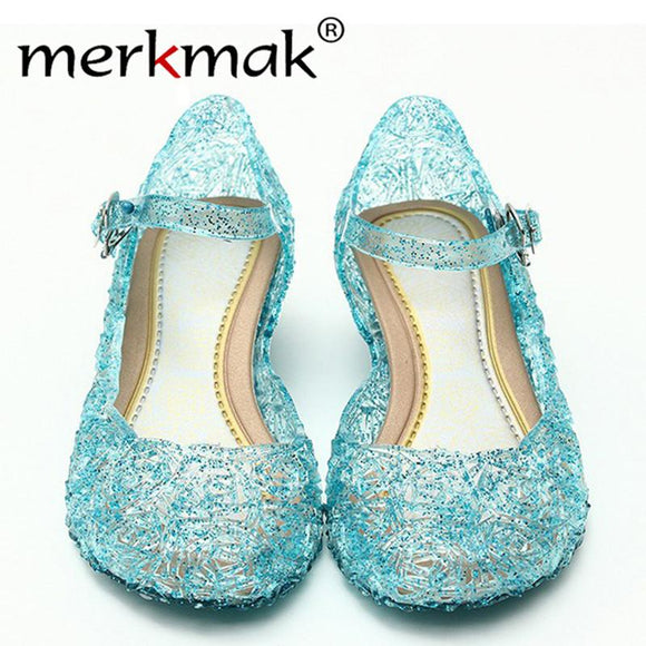 Merkmak Clearance Promotion Women Summer Sandals Shoes For Woman Bing Bling Candy Color Jelly Sandals Girl Princess Cosplay Shoe -  - Drako Store