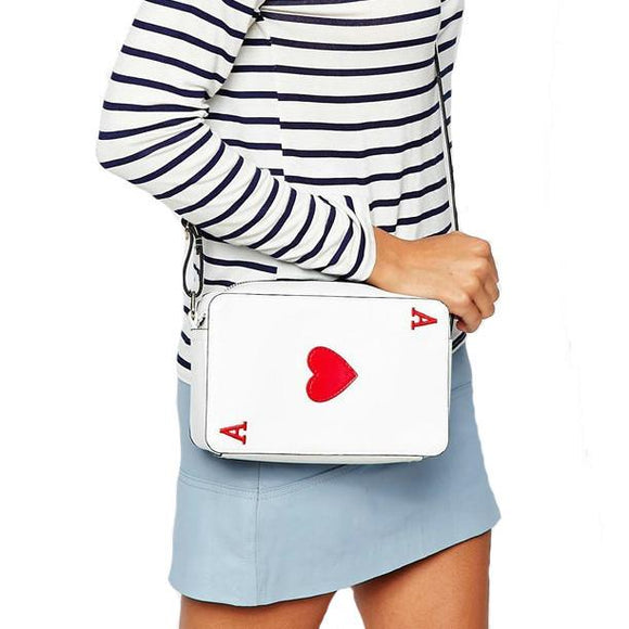 New Fashion Playing Cards Clutch Woman Bags Handbag Fashion Messenger Bag Day Clutches Girl's Poker Handbags -  - Drako Store