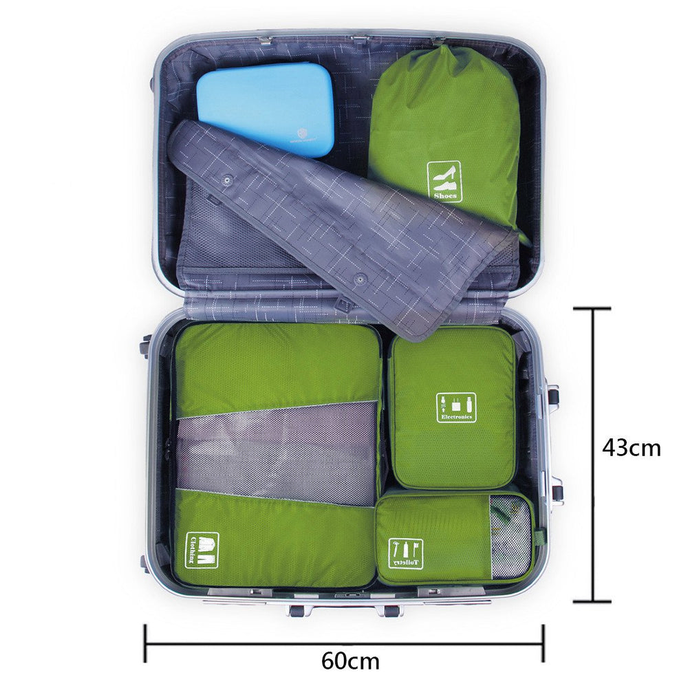 Waterproof 4PCS Packing Cube Travel Luggage Organizer Bag