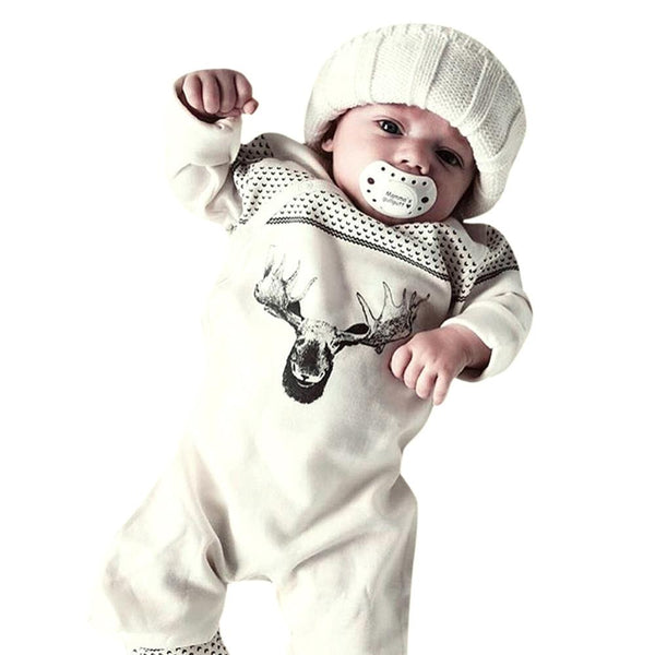 Baby rompers New Infant Baby Girl Boy Deer Romper Jumpsuit Playsuit Outfits Christmas Pajamas drop shipping