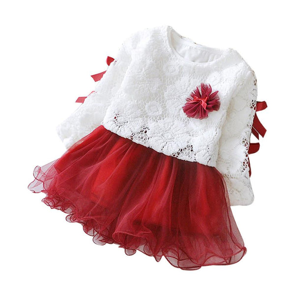 Baby Girl Dress 2017 New Princess Infant Party Dresses for Girls Autumn Kids tutu Dress Baby Clothing Toddler Girl Clothes