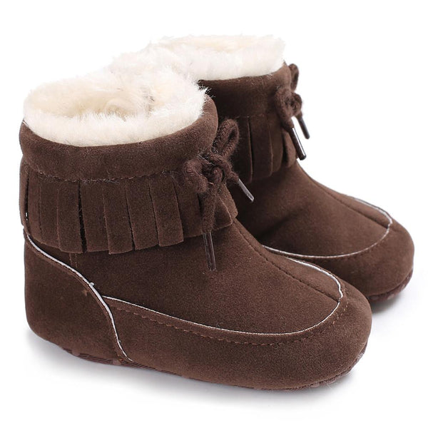 Casual Winter Autumn Warm Baby Soft Sole Snow Boots Soft Crib Shoes Newborn Toddler 2017 New Hot Sale Fashion Girls Boys Boots