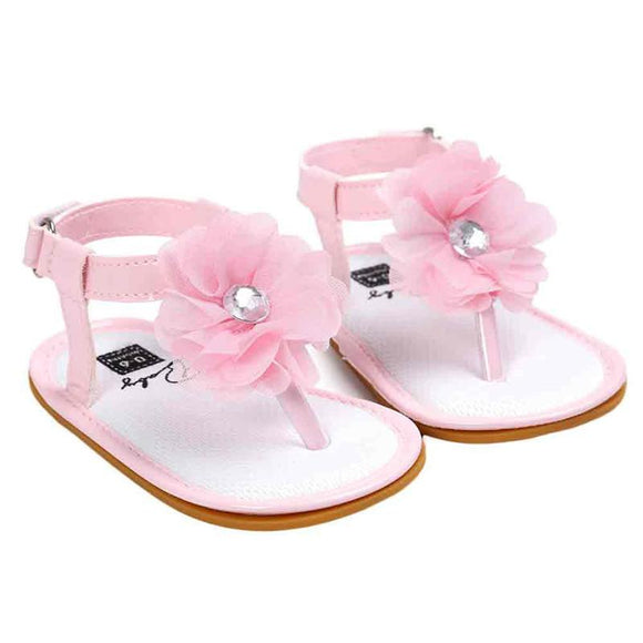 Summer New Baby Flower Pearl Sandals Children Shoes for Girls 2017 Newborn Fashion Princess Sandals Garden Shoes Girl Shoes -  - Drako Store