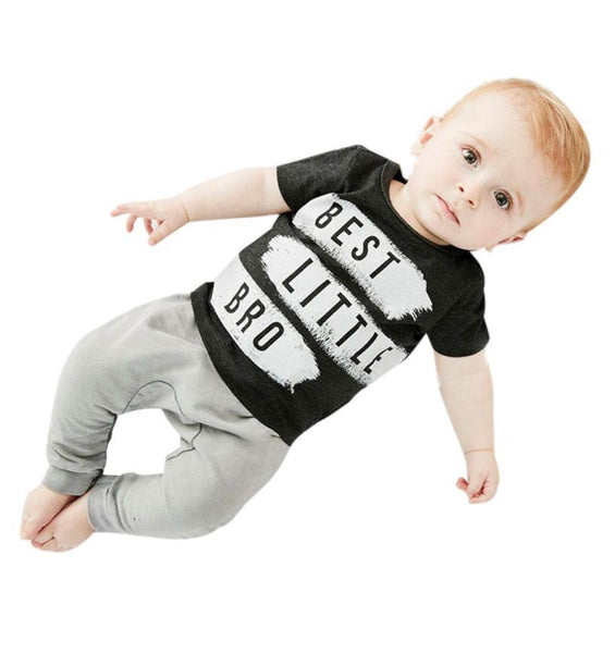 2017 Summer Kids Clothes Sets Short Sleeve Boy T-shirt Pants Suit Clothing Set Newborn Sport Suits Children Baby Boy Clothes