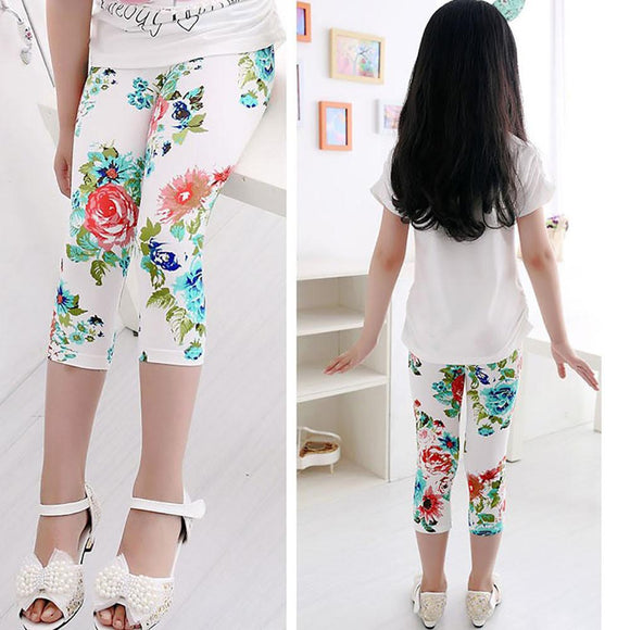 girl pants new arrive Children Pants print Flower girls leggings Toddler Classic Leggings 3-9Ybaby girls leggings kids leggings -  - Drako Store