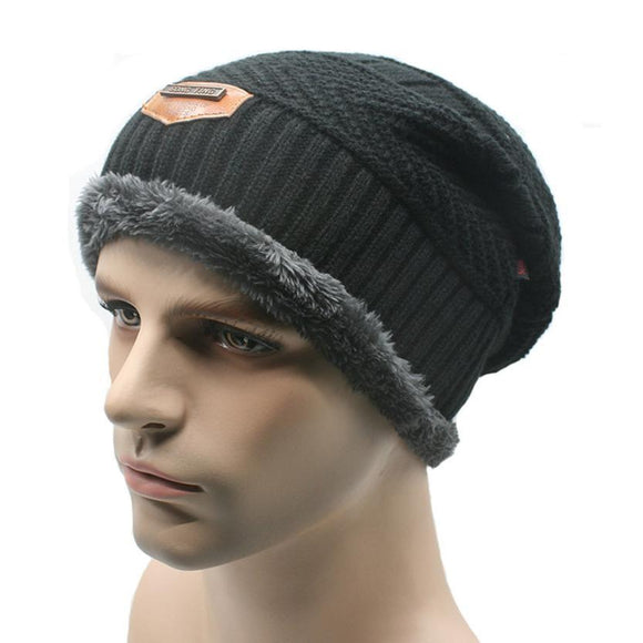 2017 New Arrival Winter Warm Men Beanie Gorras Bonnet Baggy Knitted Solid Hats Plain Caps Oversize Ski Skullies Beanies Hats -  - Drako Store