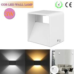 3W Aluminum Up and Down COB LED Wall Lamp Night Light Home Lighting Indoor Decoration KTV Bar Restaurant AC 85-265V