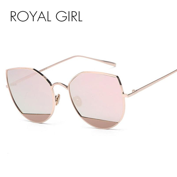 ROYAL GIRL Brand Designer Women Sunglasses Round vintage metal cat eye Sun glasses SS039