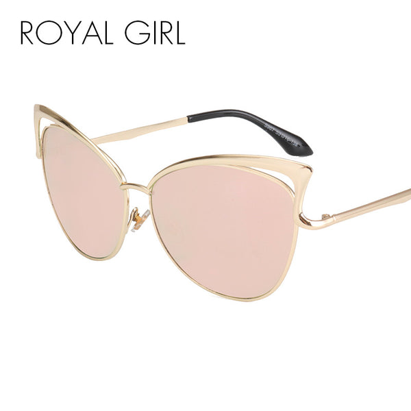 ROYAL GRIL High Quality Angular Women Cat Eye Sunglasses Metallic Frame Vintage Sun glasses women Brand Designer glasses SS278