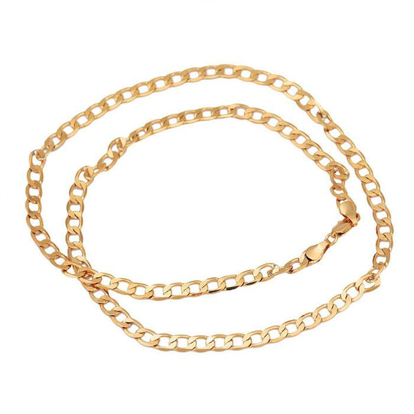 New Fashion MEN Stainless Steel Gold Cuban Curb Link Chain Necklace