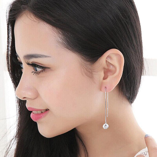 1Pair Women Long Style Earrings Ear Hook Stud Jewelry