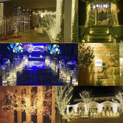 Konesky 5M 50 LED 3XAA Battery LED String Lights for Xmas Garland Party Wedding Decoration Christmas Flasher Fairy Lights