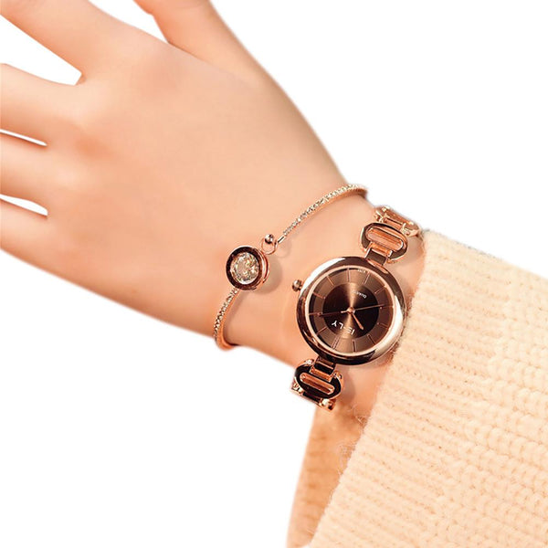 Women Quartz Analog Wrist Small Dial Delicate Watch Luxurysiness Watches