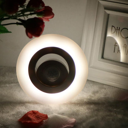 360 Degree LED Night Light Wireless Wall Lamp IR Motion Sensor Auto On/Off Operated for Cabinet Wardrobe Bedroom Bathroom