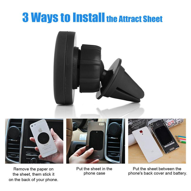 Universal 360 Degree Magnetic Car Phone Holder Air Vent Outlet Phone Holder Stand For Samsung Accessories GPS Stent Phone Stand