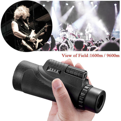 12X Phone Telescope HD 12x50 Monocular Camera Zoom Lens with Tripod Phone Clip Clasp Phone Holder Universal For Smartphone