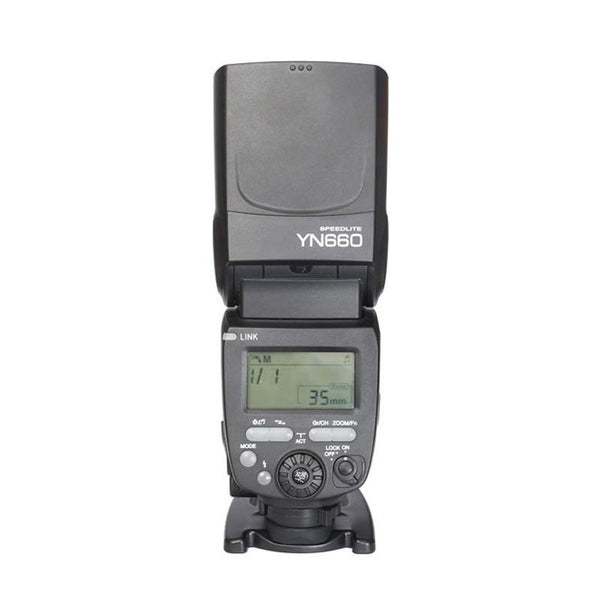 YONGNUO YN660 2.4GHz Flash Speedlite Wireless Transceiver Integrated for Canon Nikon Pentax Olympus DSLR Cameras