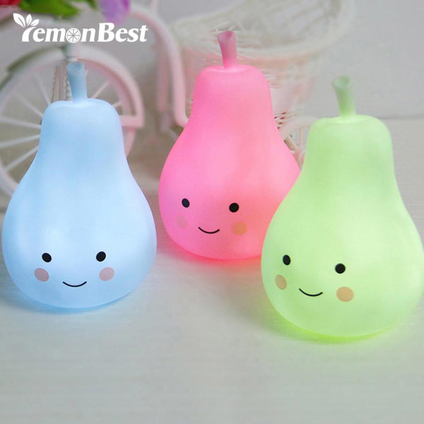 Baby Pillow Bedroom Night Light Milk Bottles Pears Sleep Led Table Lamp Bulb Night Light For Children Kids Feeding Bedside Lamp