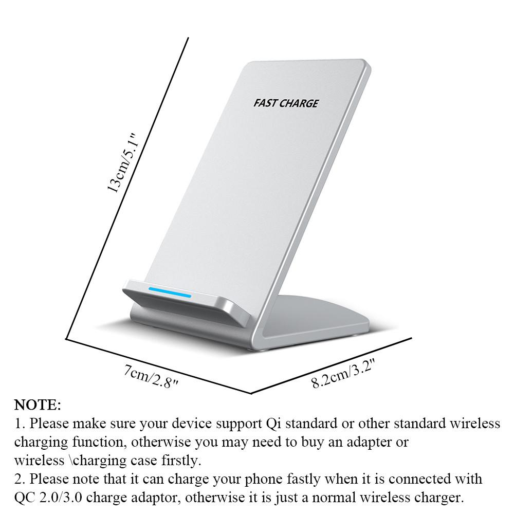 Powstro Universal QI Wireless Phone Charger Holder Fast Charging Micro USB Input For Samsung Galaxy S6 S7 Edge Plus Note 5 7