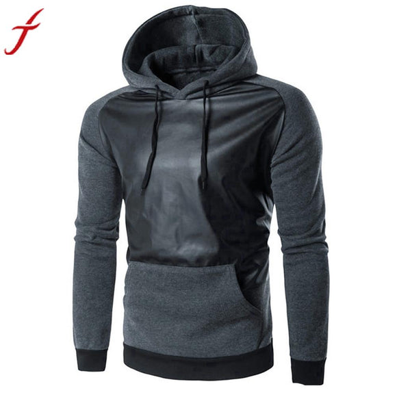 Fashion Men Sweatshirt Retro Long Sleeve Hoodie Hooded Cotton Warm Thick Tops Jacket Coat Outwear -  - Drako Store