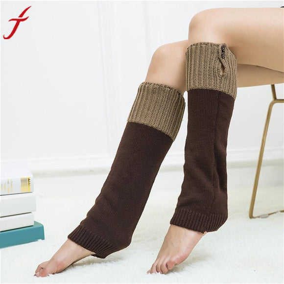 Women's Fashion Winter Warm Knit Crochet High Knee Leg Warmers Leggings Boot For Ladies -  - Drako Store