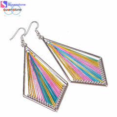 SUSENSTONE 1Pair Fashion Women Alloy Drop Earings Eardrop Jewelry New