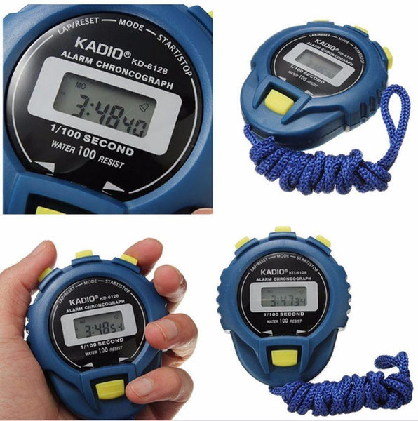 LCD Chronograph Digital Timer Stopwatch Sport Counter Odometer Watch Alarm ##