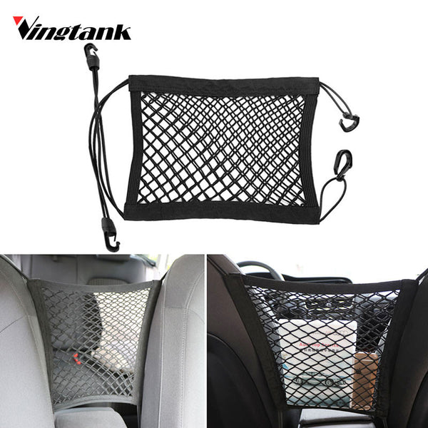 Vingtank Universal Elastic Mesh Net trunk Bag Between Car organizer Seat Back Storage Mesh Net Bag Luggage Holder Pocket net bag