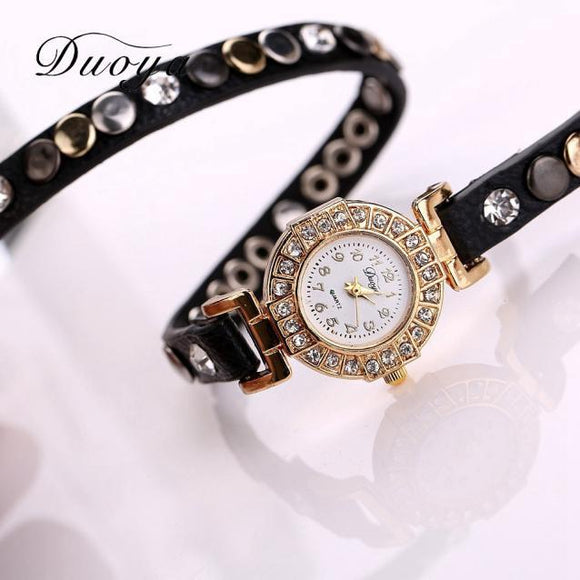 Luxury Rhinestone Bracelet Women Watch Ladies Quartz Watch Women Wristwatch -  - Drako Store