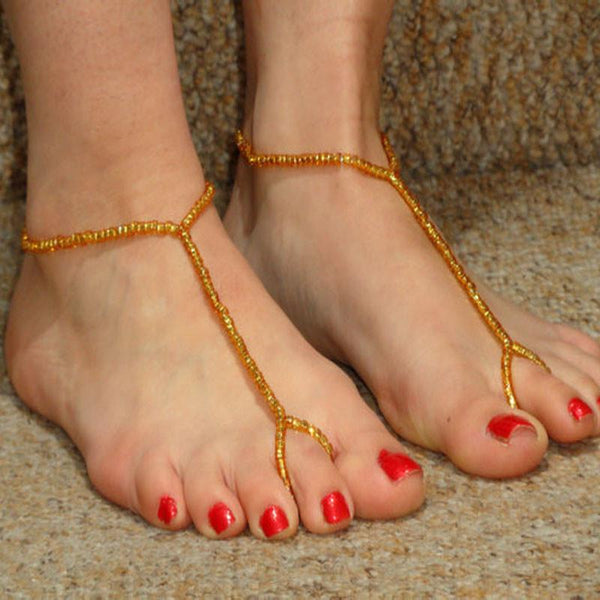 Simple Womens Beach Bead Barefoot Foot Jewelry Anklet Chain Bracelet YE